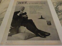 ANCIENNE PUBLICITE MOI FIDELE A  NESCAFE 1959 - Affiches