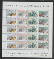 Wallis 1998 Feuille Coraux 523-26 ** MNH - Neufs