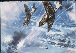 AK/CP Stukas Vernichten Englischen Geleitzug Flieger Luftwaffe  Ungel./uncirc. 1939-45   Erh./Cond.  2      Nr. 01099 - Guerra 1939-45