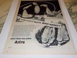 ANCIENNE PUBLICITE UNE SOLE  MARGARINE ASTRA  1957 - Affiches