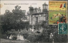 AK/CP Maison De Campagne Du Lycee David D`Angers  Aviation   Gel./circ. 1912   Erh./Cond.  2-      Nr. 01100 - Les Ponts De Ce