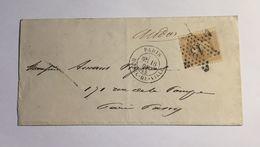 Lettre Affranchie à 10c En étoile De Paris N°13 Sur N°28b - 1849-1876: Période Classique