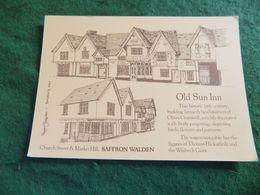 VINTAGE UK ENGLAND ESSEX: SAFFRON WALDEN The Old Sun Inn Art Advertising Card - Altri