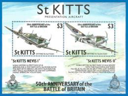 St.Kitts 1995 Year , Mint Block (MNH**) - Airships