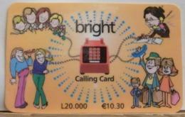PR134 - PREPAGATA- BRIGHT CALLING CARD - ARANCIO - L.20.000  - 10.30€ ITA - N°042BRIGH-14-2359 - [2] Tarjetas Móviles, Prepagadas & Recargos