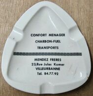 CENDRIER CONFORT MENAGER CHARBON-FUEL TRANSPORTS MENDEZ FRERES 22 RUE JULES KUMER VILLEURBANNE - Camion