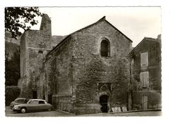 84 Fontaine De Vaucluse Eglise 11e Siecle CPSM GF Cachet Fontaine De Vaucluse 1961 Auto Voiture Citroen DS - Autres Communes