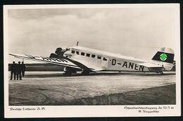 AK/CP JU 52  Junkers  Werner Voss  Lufthansa   Ungel./uncirc.ca  1935   Erh./Cond.  2   Nr. 01102 - 1919-1938: Fra Le Due Guerre