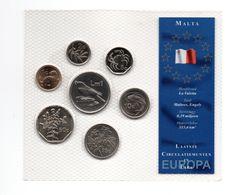 MALTA COINSET 7 PCS. DIFFERENT TYPES - YEARS 1998/2003 - Malta