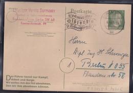 DR. Ganzsache P313 II B Gestempelt. Berlin 6.04.45 - Unclassified