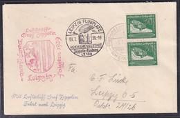 Zeppelin-Brief  Fahrt Nach Leipzig 1939  Mit MeF.  Mi.-Nr. 670 - Zeppelins