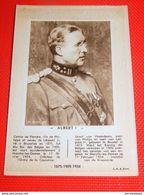 ROI ALBERT I  -  Buvard - Vloeipapier  (format 10 X 15 Cm) - Familles Royales