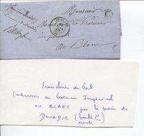REF1471/ LSC En Franchise Boîte C Maire De Douadic > Procureur Impérial Au Blanc C.d'arrivée Le Blanc 12/6/1860 - 1849-1876: Classic Period