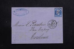 """FRANCE / ALGÉRIE - Cachet à Date """" Alger Bat à Vap """" En 1864 Sur Lettre Pour Toulouse, Napoléon GC 2240  - L 65138 - 1849-1876: Periodo Clásico"""