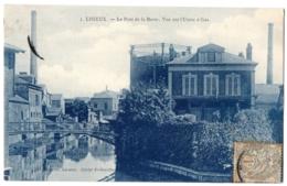 CPA 14 - LISIEUX (Calvados) - 3. Le Pont De La Barre. Vue Sur L'Usine à Gaz - Lisieux