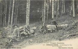 CPA 88 Vosges Gerardmer Le Schlittage Des Bois Dans La Montagne - Métier - - Gerardmer