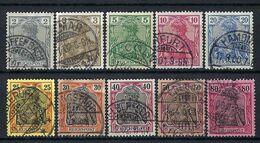 ALLEMAGNE 1900: Les Y&T 51-60 Obl. CAD - Germany