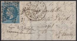 """Ballon Monté """"Les Etats-Unis"""" 26/SEPT./1870 Sur Lettre Pour Limoges - TB - Guerra De 1870"""