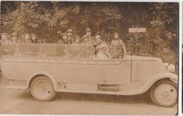 Carte Photo -voiture De Transport-S. L. A  LOURDES Animée - Cartes Postales