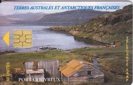 Télécarte 50U, Tirage 1500, Port Couvreux (Logo Rapproché) - TAAF - Terres Australes Antarctiques Françaises