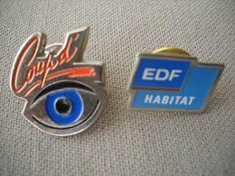 1845 Pin's Pins   2 Pins EDF GDF Habitat Et COUP D' OEIL - EDF GDF