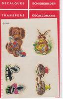 DECALCOMANIE Cadox Avec Motif: ANIMAUX N° 7505 Chien, Lapin, Hérissons, ... - Creative Hobbies