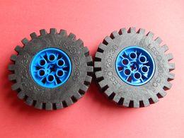 2 Roues LEGO TECHNIC 20x30 Bleu - Lego Technic