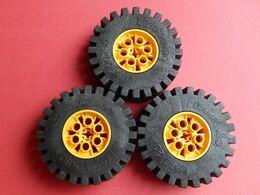 3 Roues LEGO TECHNIC 20x30 Jaune - Lego Technic