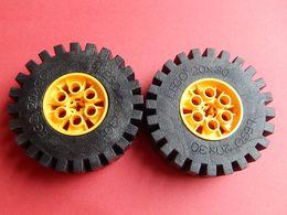 2 Roues LEGO TECHNIC 20x30 Jaune - Lego Technic