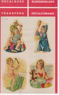 DECALCOMANIE Cadox Avec Motif: ENFANTS N° 7334 ENFANTS A LA SALLE DE BAINS - Autres