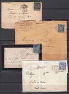 SAGE LOT 18 ENVELOPPES + 3 CARTES  La 1 Ere De 1876 , Lettres - Marcofilie (Brieven)