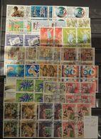 07 - 20 - Suisse - Année 1989 En Blocs De 4 Oblitérés - Cote : 180 FCH - Gebraucht