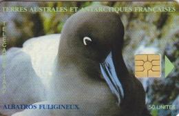 Télécarte 50U, Tirage 1500, Albatros Fuligineux - TAAF - Terres Australes Antarctiques Françaises
