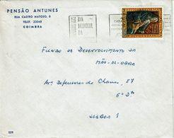 Portugal . 1972 , Dia Mundial Poupança ,  Pombal Marquis , Coimbra Postmark , Pensão Antunes - Hotel- & Gaststättengewerbe