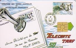 Télécarte 50U, Tirage 1500, Cachet Postal - TAAF - Terres Australes Antarctiques Françaises
