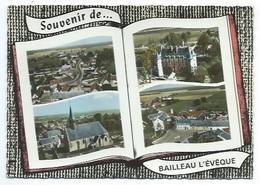 28 - SOUVENIR DE BAILLEAU L'EVEQUE - 4 VUES - CPSM - France