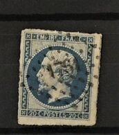 07 - 20 - France N°14 Oblitéré PC 1761 - Lorient - Morbihan - 1853-1860 Napoleone III