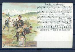 CP ANCIENNE PRECURSEUR REF220720...CACAO SUCHARD, Roulez Tambours - Reclame