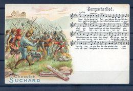 CP ANCIENNE PRECURSEUR REF220720...CACAO SUCHARD, Sempacherlied - Reclame
