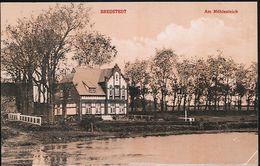 AK/CP Bredstedt   Am Mühlenteich    Gel./circ. 1916    Erh./Cond. 2 , 1cm Einriss Oben   Nr. 01123 - Bredstedt