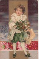 CPA   ENFANT  Avec Un Bouquet De Fleurs - Kinder-Zeichnungen