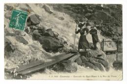 J.J.7819 - Chamonix - Cascade Du Nant-Blanc à La Mer De Glace ( Couple  Excursion) Circ Cachet Convoyeur Chamonix/Fayet - Chamonix-Mont-Blanc