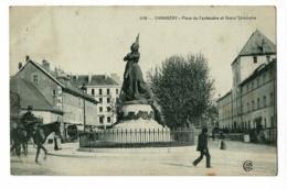 538 - Chambéry - Place Du Centenaire Et Grand Séminaire ( Animation) Circulé 1904, Cachet Convoyeur De Macon à Genève - Chambery