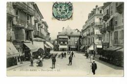 61 - Aix Les Bains - Place Carnot ( Commerces, Animation)  - Circulé 1907 - Aix Les Bains