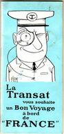 """COMPAGNIE GENERALE TRANSATLANTIQUE -  LIVRET D'INFORMATIONS DES PASSAGERS DU PAQUEBOT """" FRANCE """" - ILLUSTRATEUR PIEM - Paquebote"""