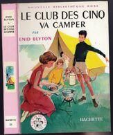 """Nouvelle Bibliothèque Rose N°51 - Club Des Cinq - Enid Blyton  - """"Le Club Des Cinq Va Camper"""" - 1969 - Bibliothèque Rose"""