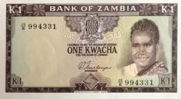 Zambia 1 Kwacha, P-10b (1969) - AU+++ - Zambia