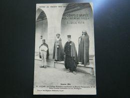 LUCON    GUERRE 1914         LE COLLEGE RICHELIEU TRANSFORME EN HOPITAL TEMPORAIRE     NOTRE ARMEE COLONIALE - Lucon