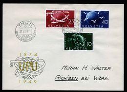 A6740) Schweiz Brief UPU 1949 Mit Sonderstempel Thun 31.07.49 N. Richigen - Schweiz