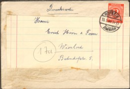 Alli.Bes.12 Pfg.Ziffer Auf Drucksache V.1946 Aus Hofheim Einkreisstegstempel Beleg Doppelt Verwendet - Gemeinschaftsausgaben